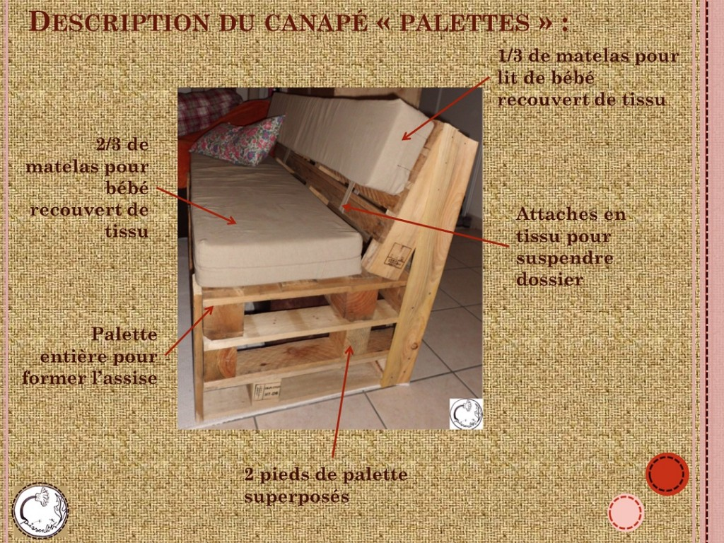 tuto canap palettes les pissenlits d 39 aurore. Black Bedroom Furniture Sets. Home Design Ideas