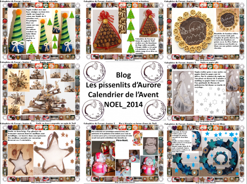 calendrier, avent, noel, creations, fait, main, couture, diy, recup, up cycling, pissenlits, aurore