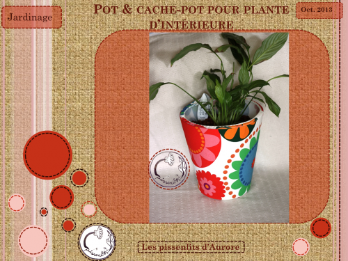 poubelle, pot, plante, cache-pot, déco, DIY, récup, up cycling, terre