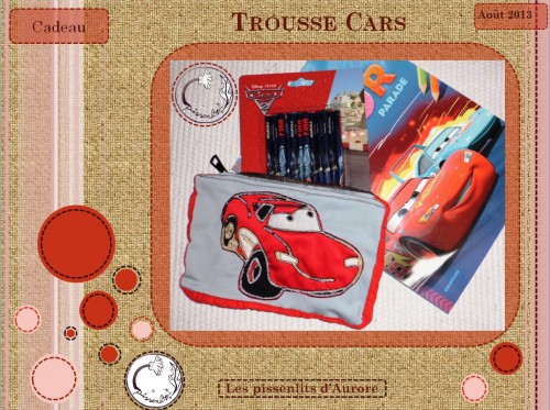 cars, flash mcqueen, disney, trousse, tissu, confection